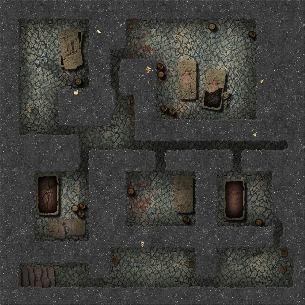 The Second Battlemap scale effort that I did here at the Guild.