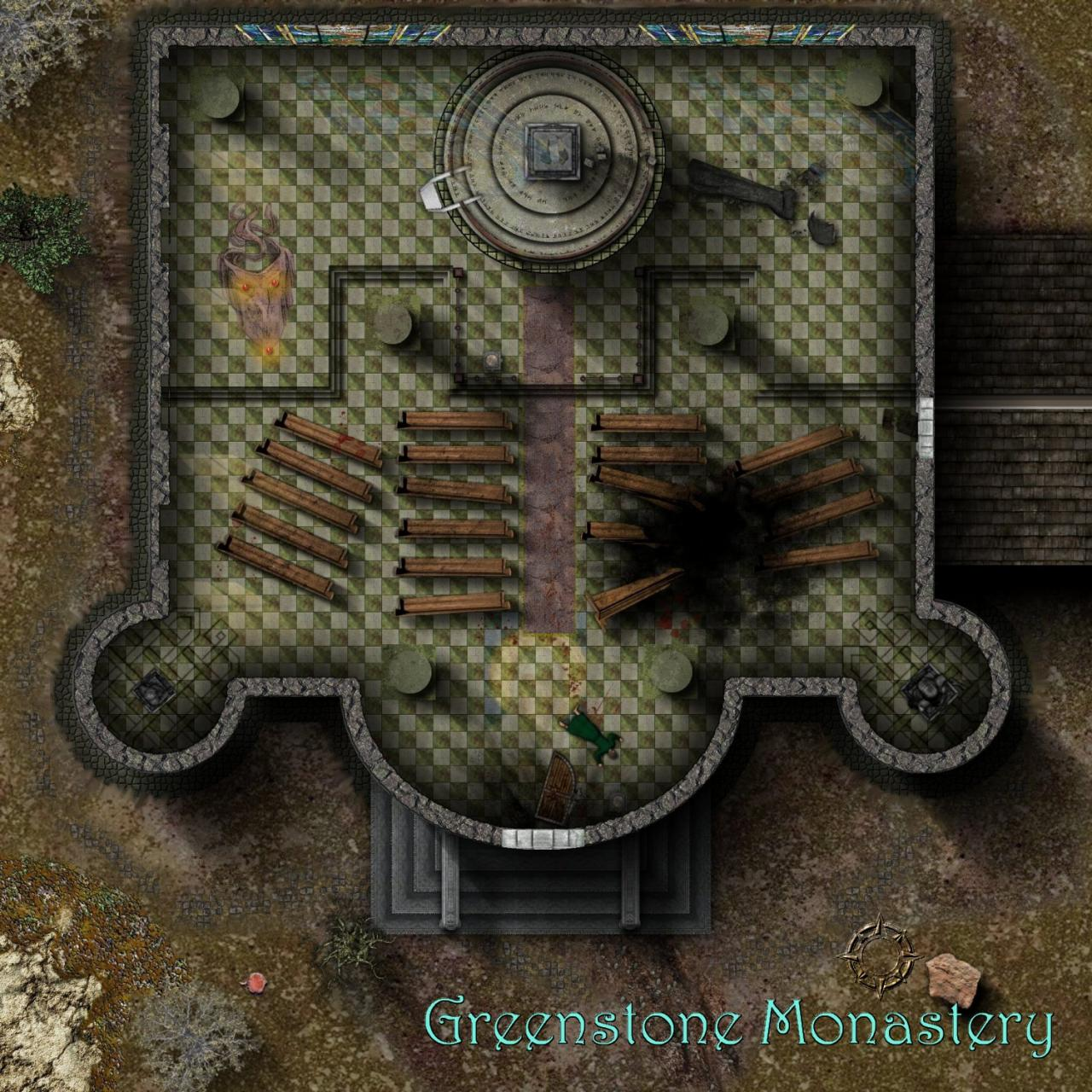 Battlemap style offering that was lucky enough to win the Challenge for October 2007.