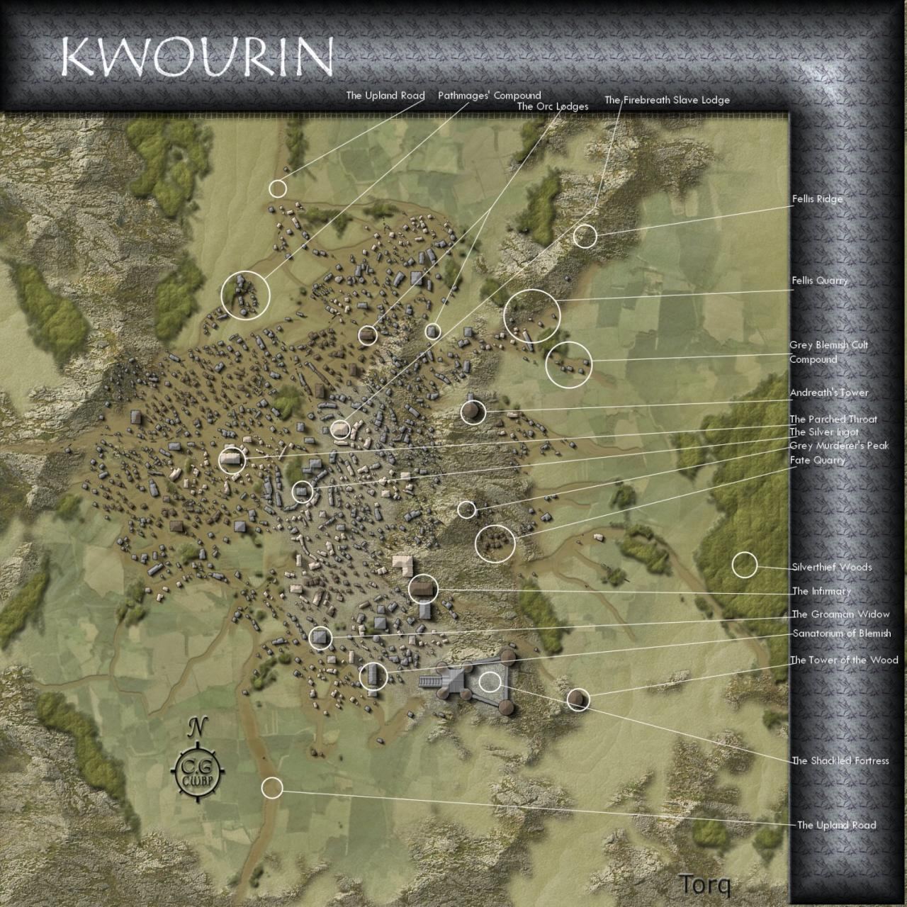 Kwourin, a town in Groam built for the CWBP