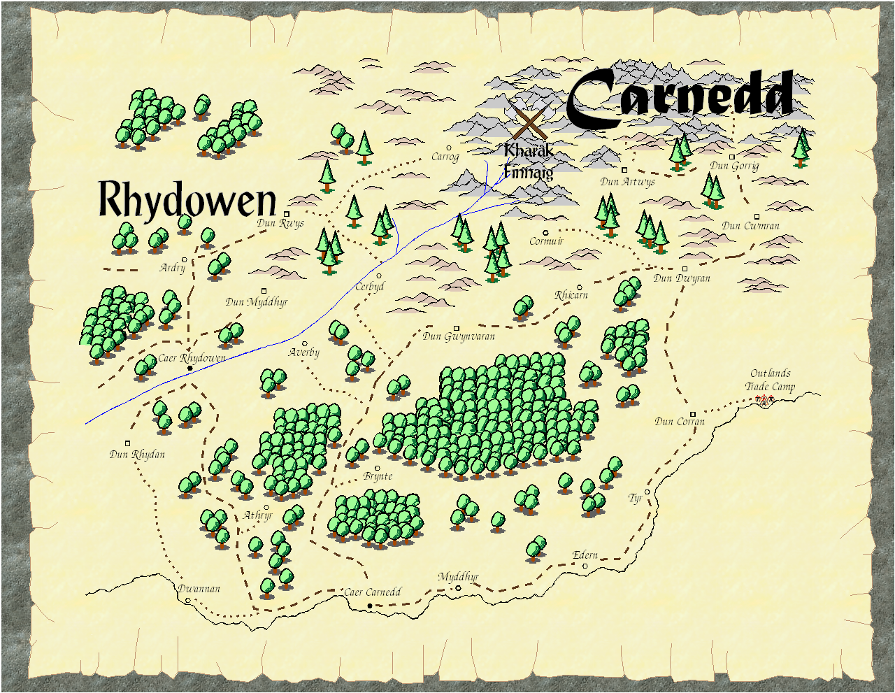 Carnedd Player Map