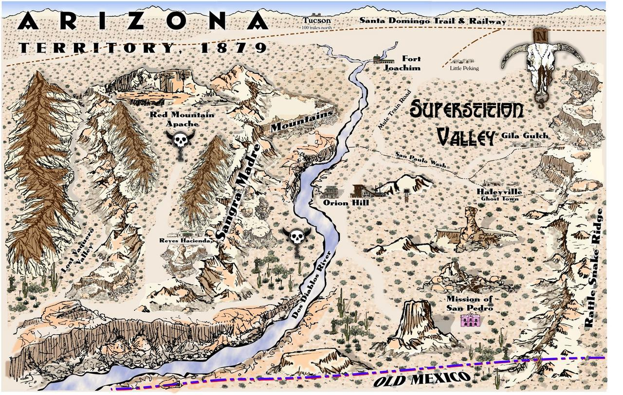 Superstition Valley - November Challenge Winner, create an old west map as well as a dozen or so map objects that can be used with any mapping app.
