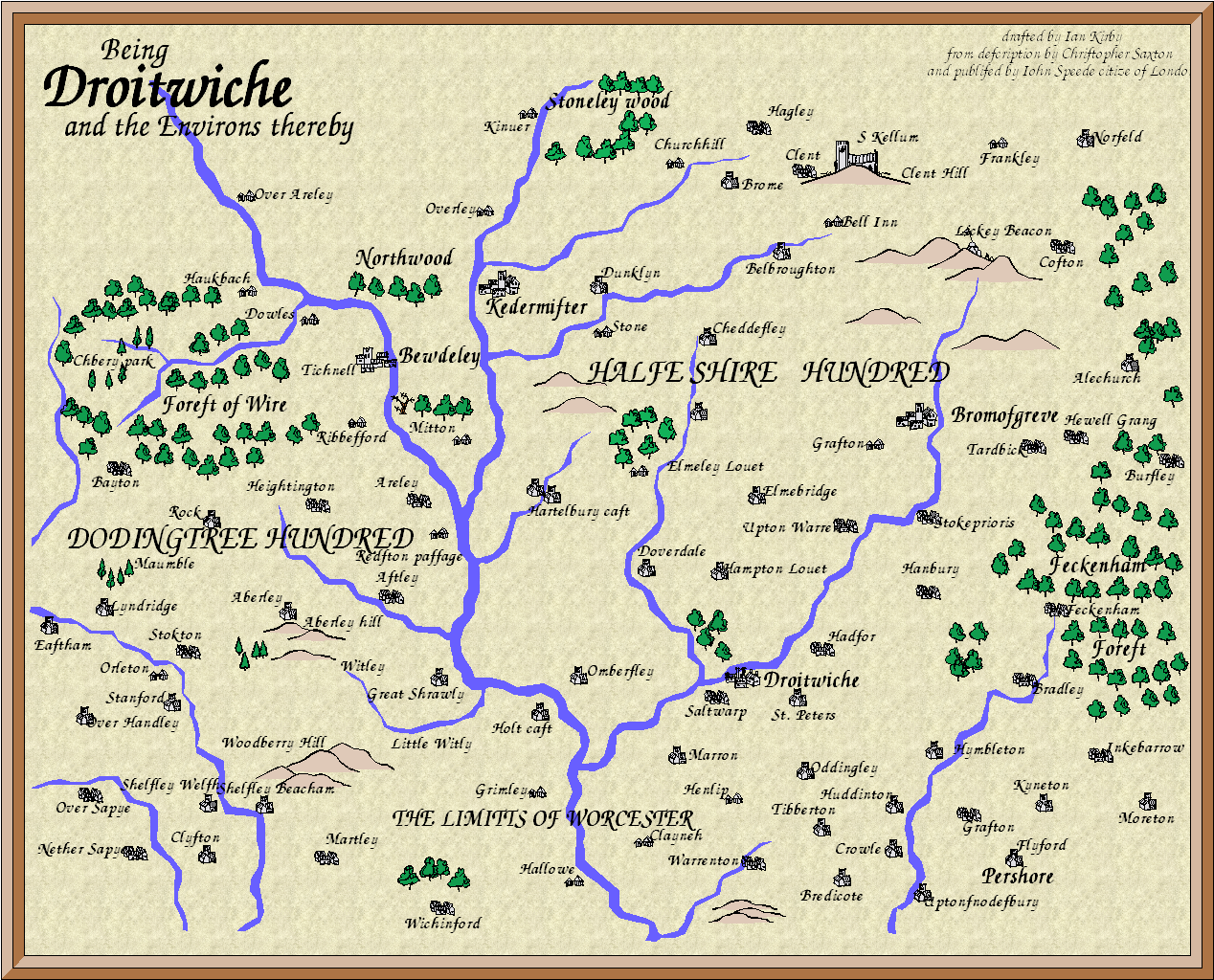 Being the Towne of Droitwiche and Environs