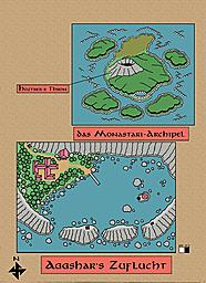 Monastari Archipel  This is a map I did for one of our recent campaigns. I hate the repeating patterns in the canvas background though.