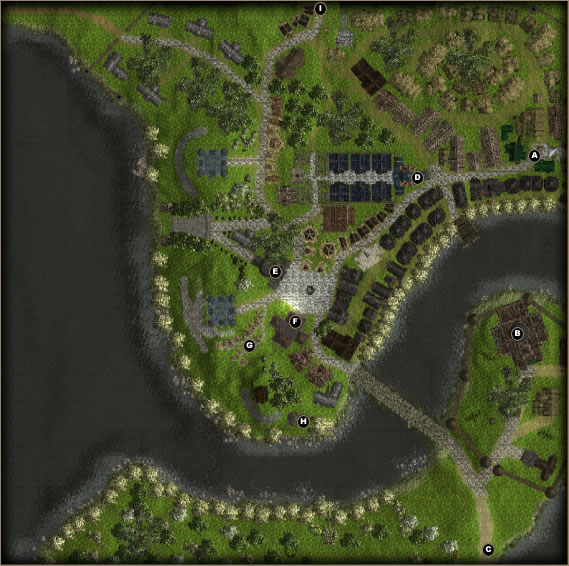 Done in the Neverwinter Nights 2 toolset about a year and half ago. Many of the player (mis)adventures where in and around this township so having the ability to zoom into any point of the town was useful. Being limited to the building objects of NWN2 not so useful.