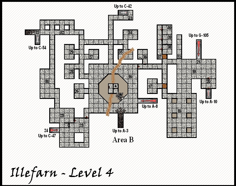 Illefarn level4 - Dungeon map from the adventure Under Illefarn.
