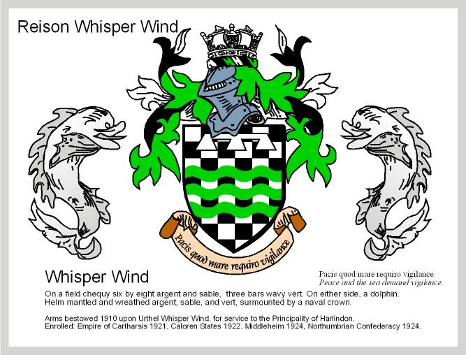 Arms for Reison Whisper Wind, 1/2 Elven Bard