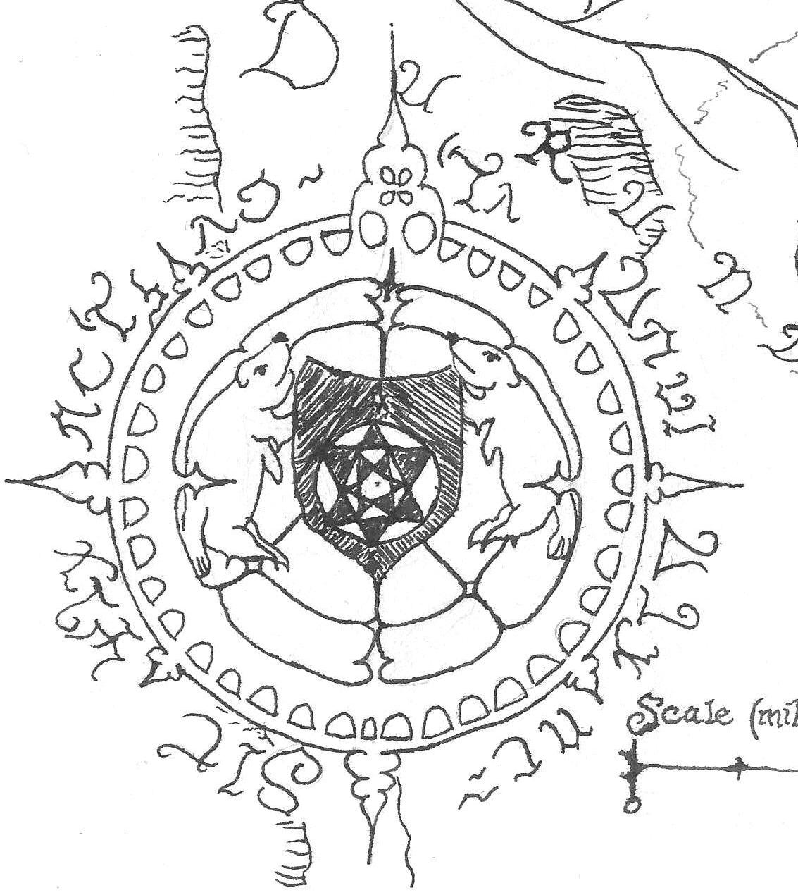 The compass rose I use as my avatar on the forums.