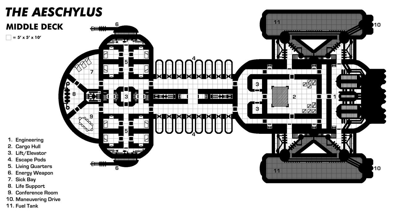 Aeschylus Middle Deck (Transport Ship)