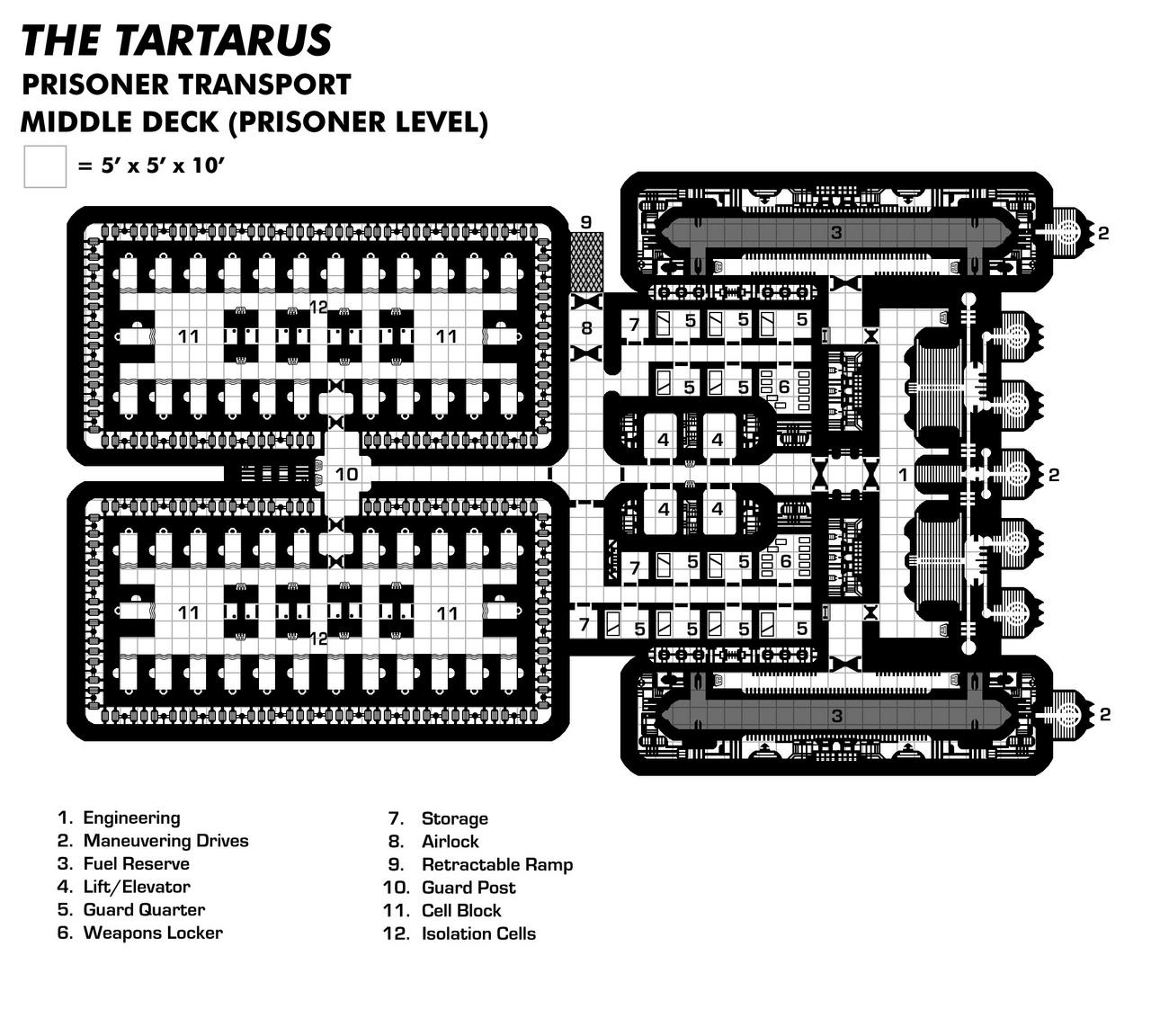 Tartarus Middle Deck (Prisoner Transport/Slaver)
