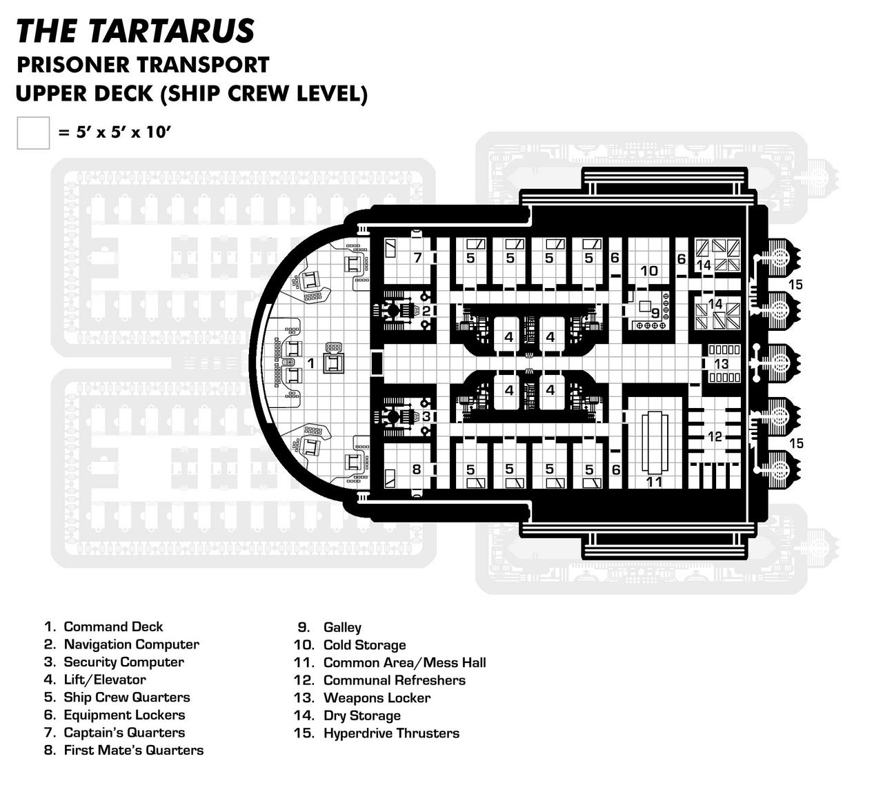 Tartarus Upper Deck (Prisoner Transport/Slaver)