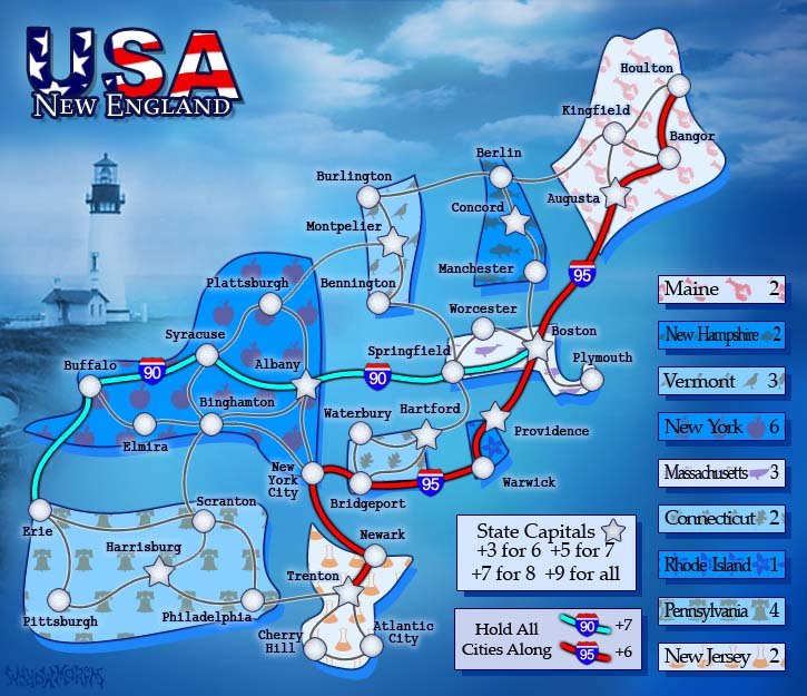 USA New England. 1 of 6 Map Pack