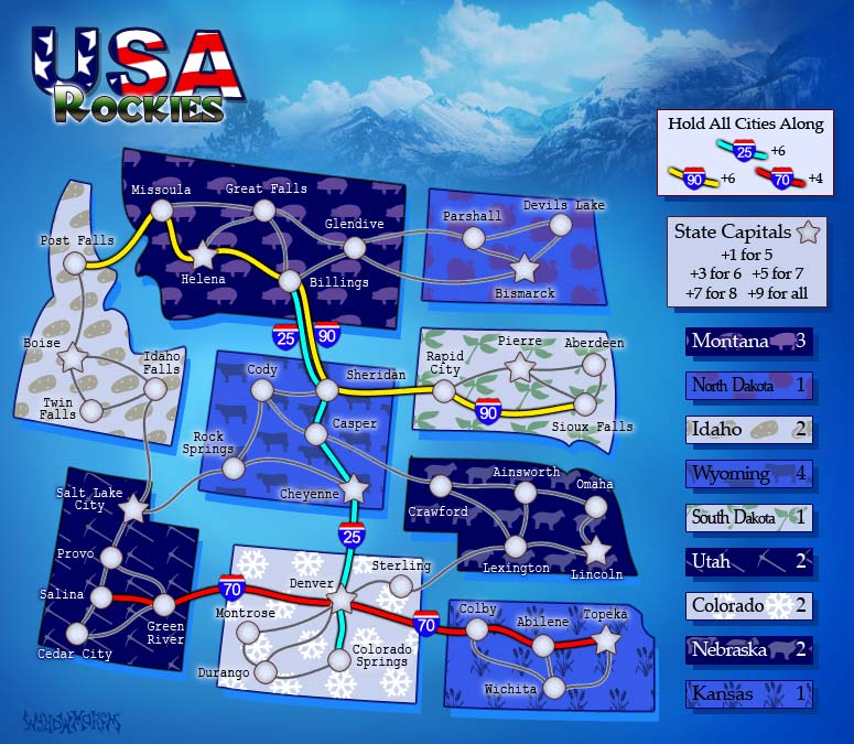 USA Rockies. 1 of 6 Map Pack