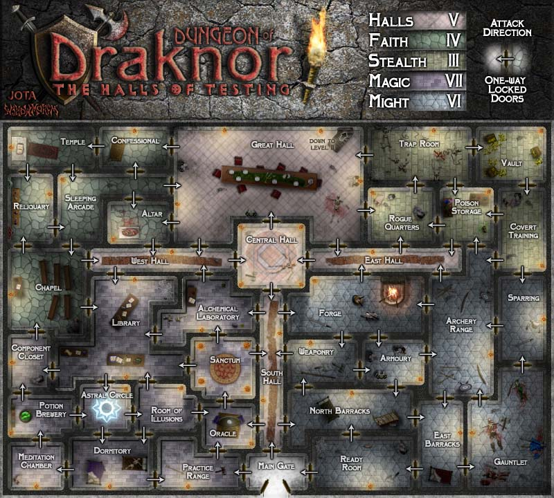 Dungeon of Draknor.  Very fun to add the details to the rooms.  The closes thing I have done to a dungeon map layout before.  But still far off and WAY TOO SMALL.