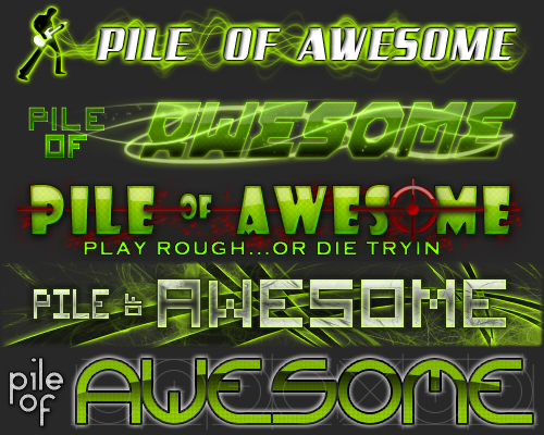 Web Banner Contest Entries for: PILE OF AWESOME site.
