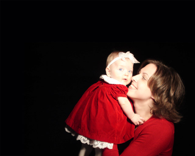 Riley's First Christmas and my first photo shoot.  I could; never take a picture like that again.