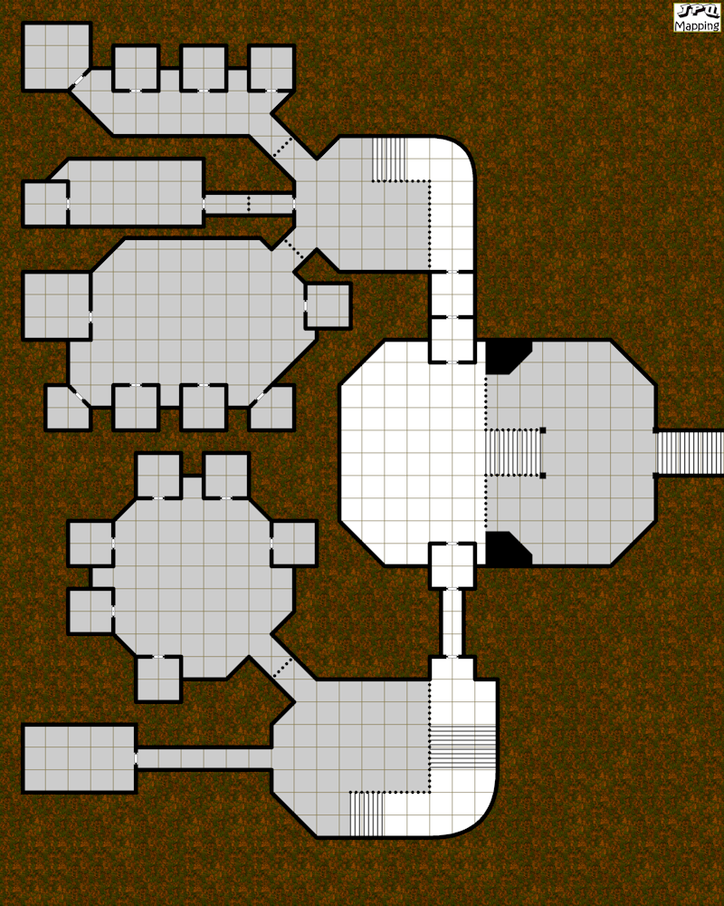My first Cartographers' Guild dungeon. This is the basement floor of a fantasy prison.