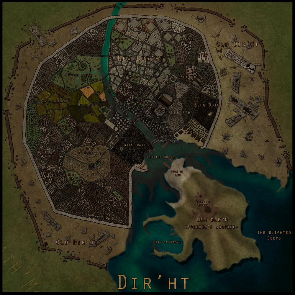 Map  The City of Dir  ht by Karithina