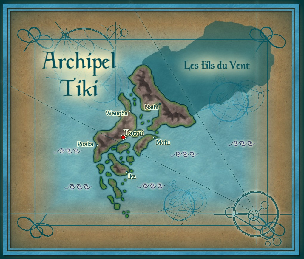Archipel Tiki version parchemin