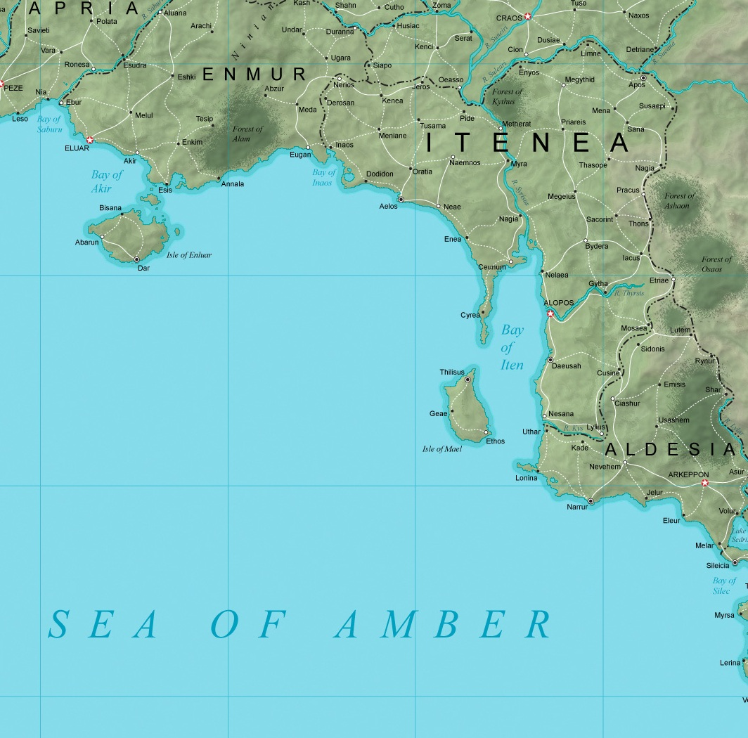 itenea - zoomed in from the Thelonian Empire map