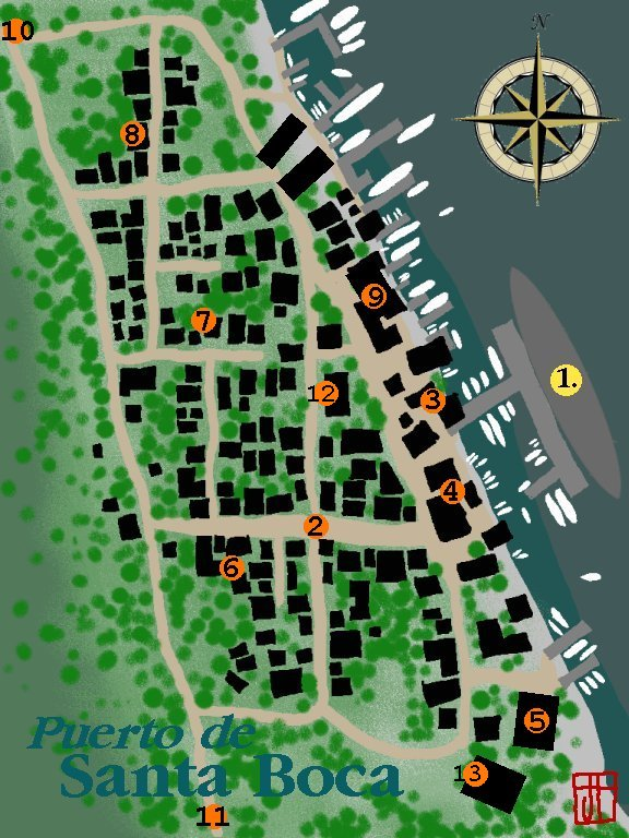City map of Puerta de Santa Boca. Sloppy, but effective.