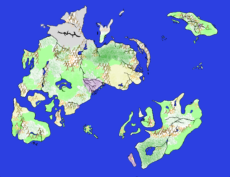 Parthwon World Map   (Original with Color/Terrain)