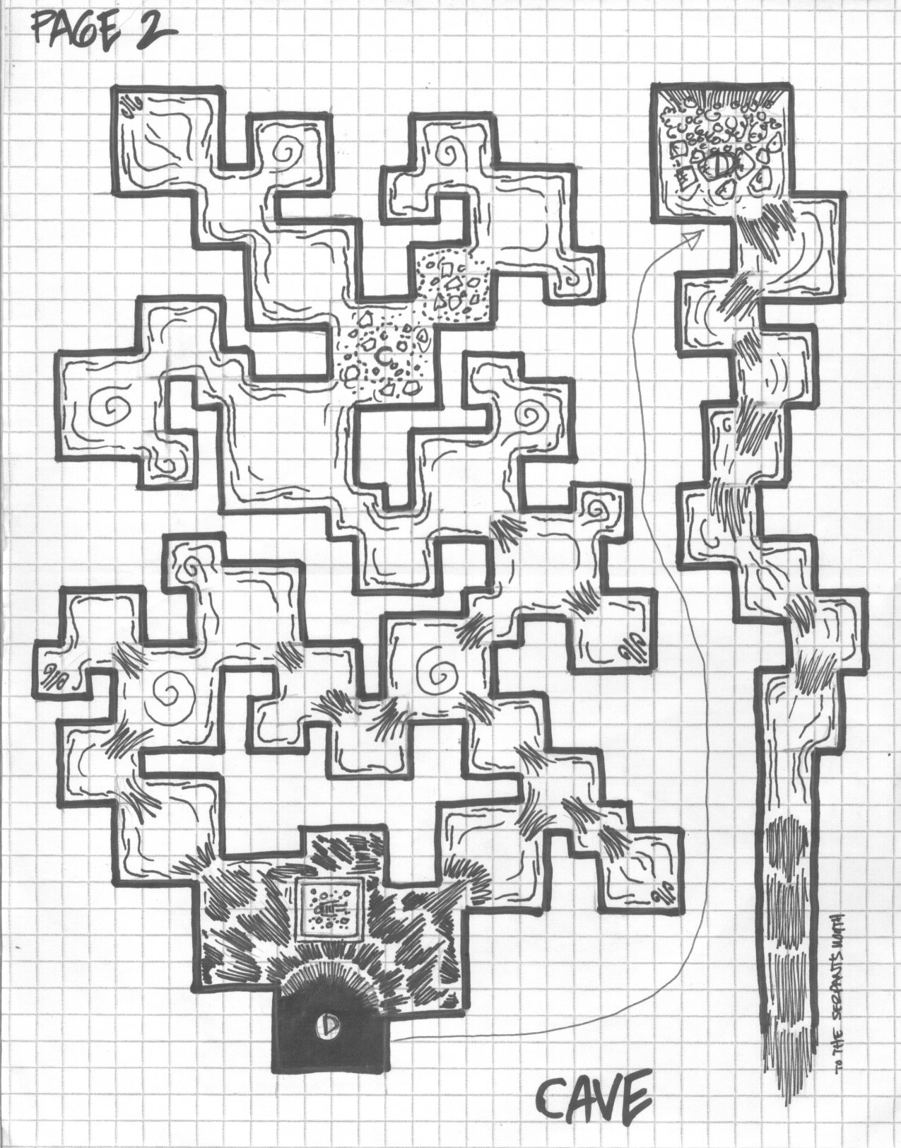 Two levels of a subterranean adventure I have planned. I'm looking for the first page still...