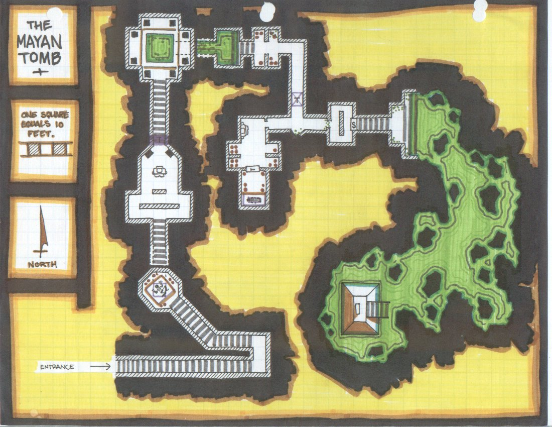 Mayan Tomb Dungeon -- an obsolete version of an upcoming dungeon crawl.