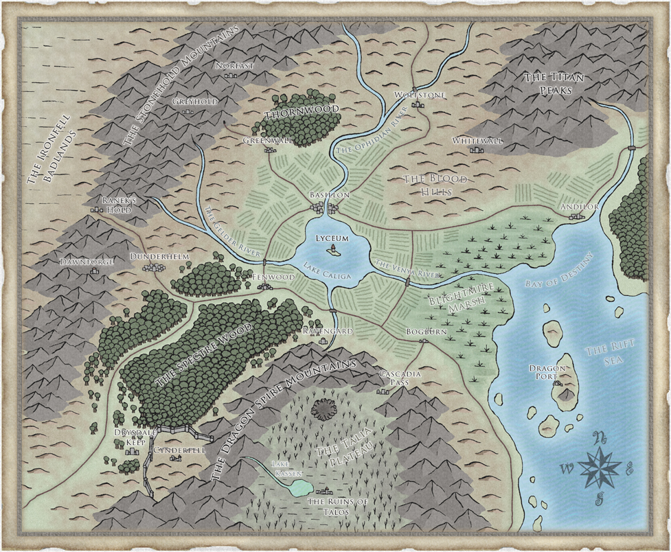 Shadows of Asteron - Regional Map