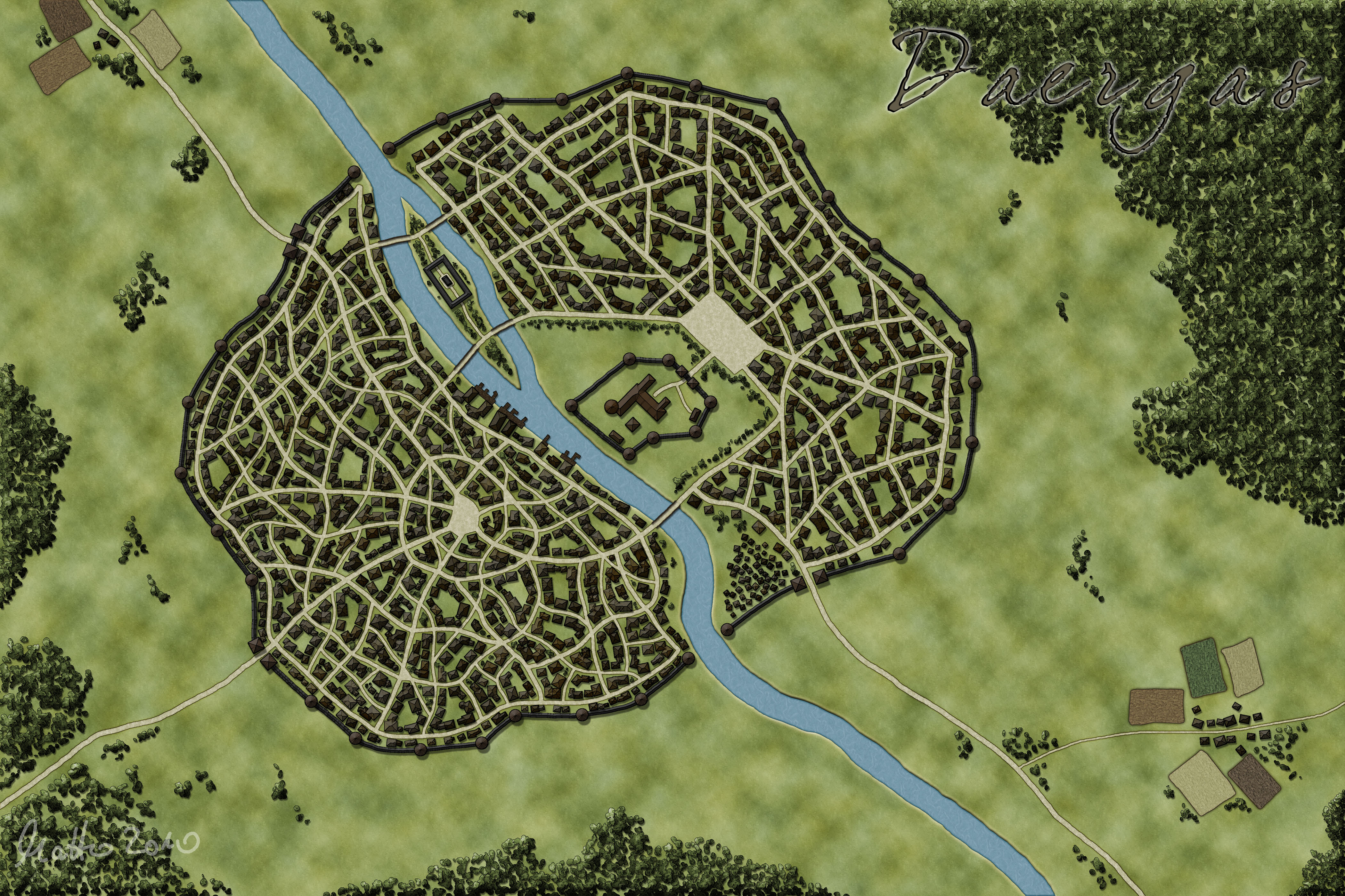Daergas - capital of the Daergan Empire