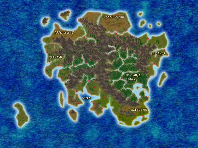 My first try with this type of map. I plan to pick a land and develop it further.