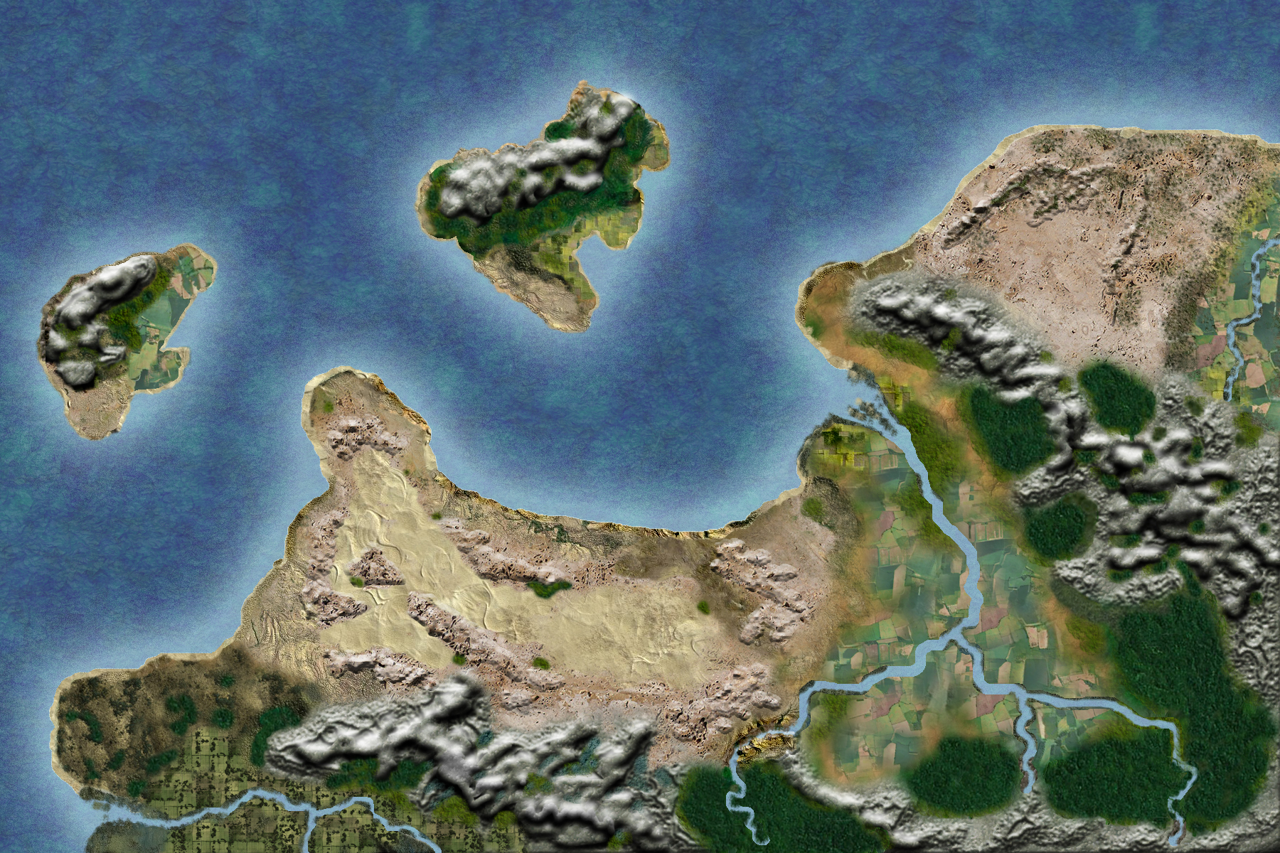 Fanid - a land and a desert. One of the seven lands from my imaginary continent.
