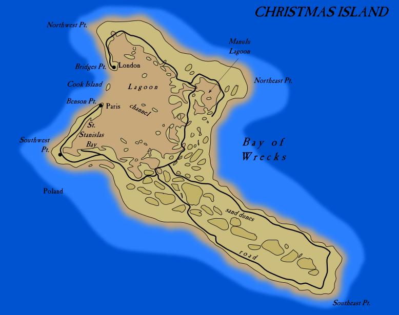 Christmas Island - Map