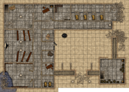 Pathfinder Module D0 - Hollow's Last Hope - Abandoned Dwarven Monastery Battlemap revised