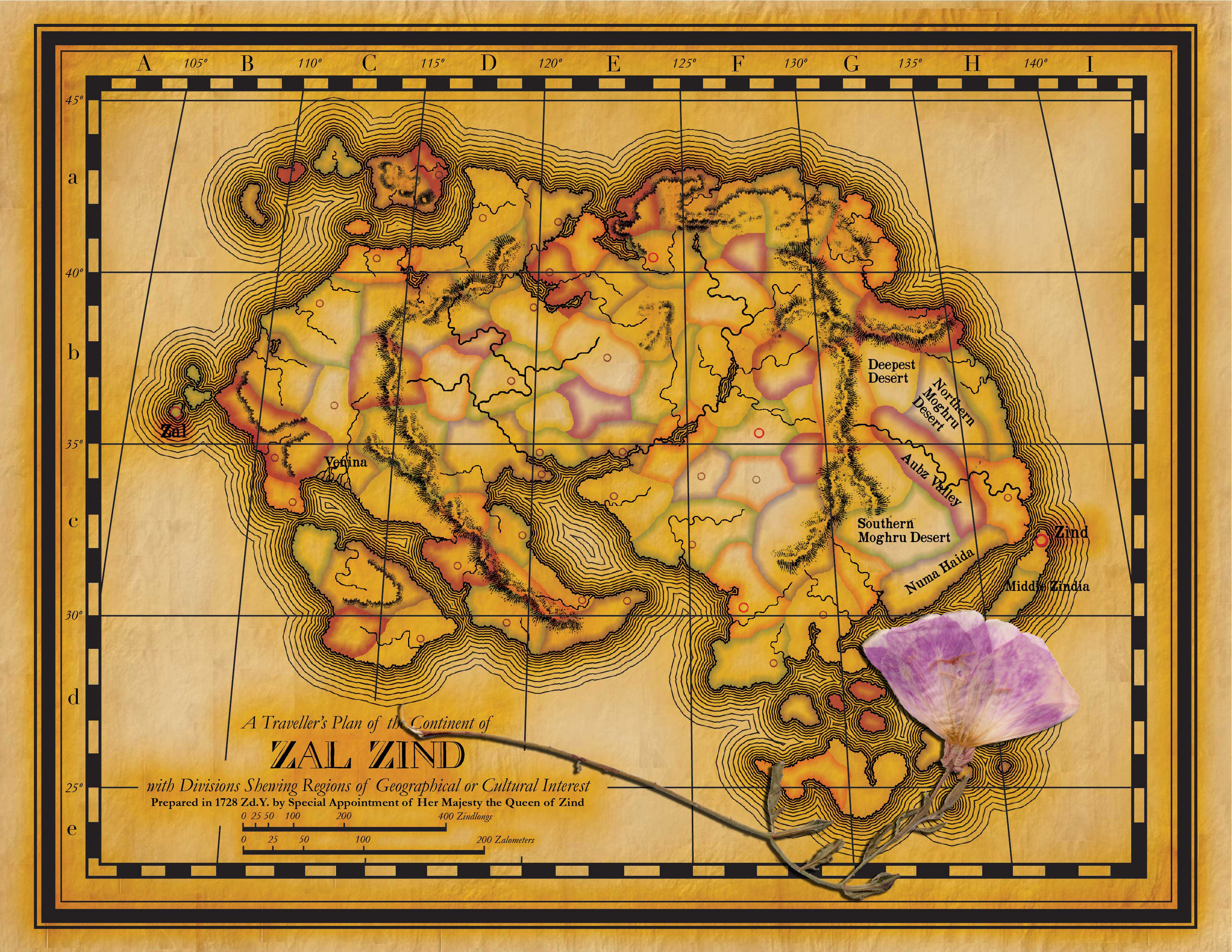 Once I thought of it, I couldn't resist Photoshopping a pressed flower on top of this mid-19th century style map (notwithstanding that it's not finished yet).