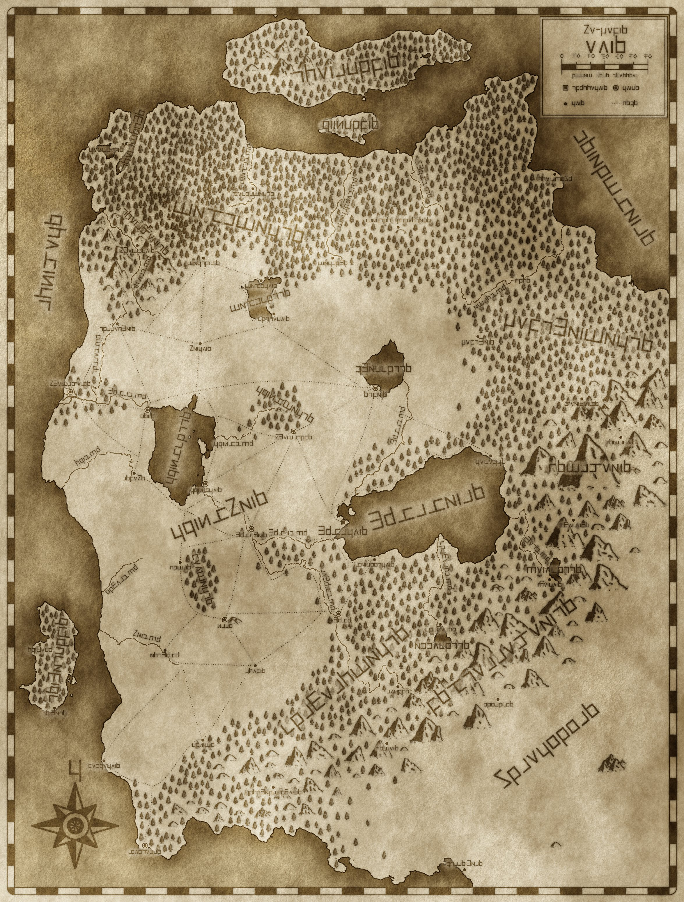 Eino Old Map, Eindo Rune Labels