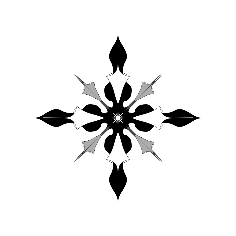 compass grey flower