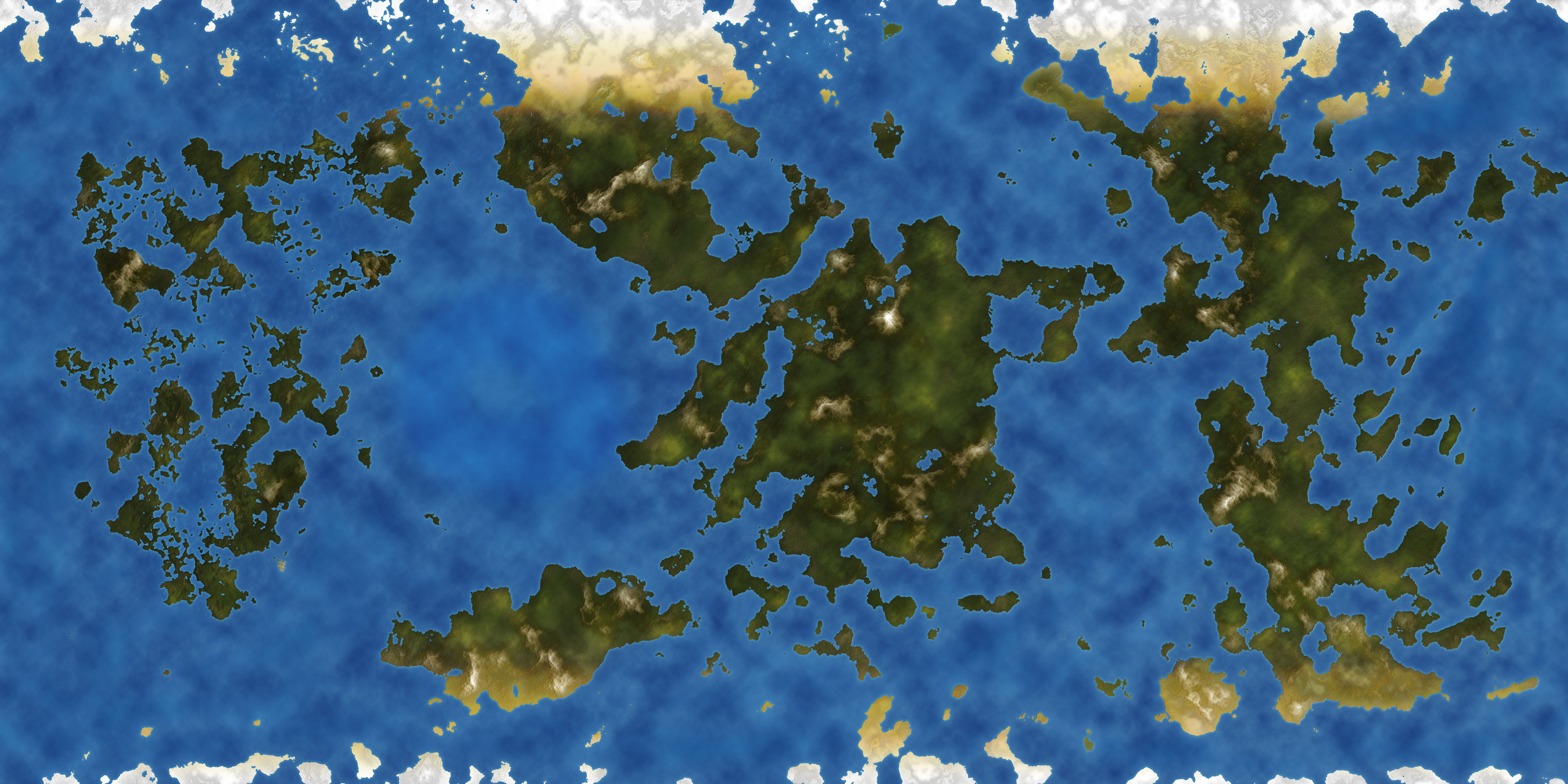 World Map for personal use called Fractured Lands