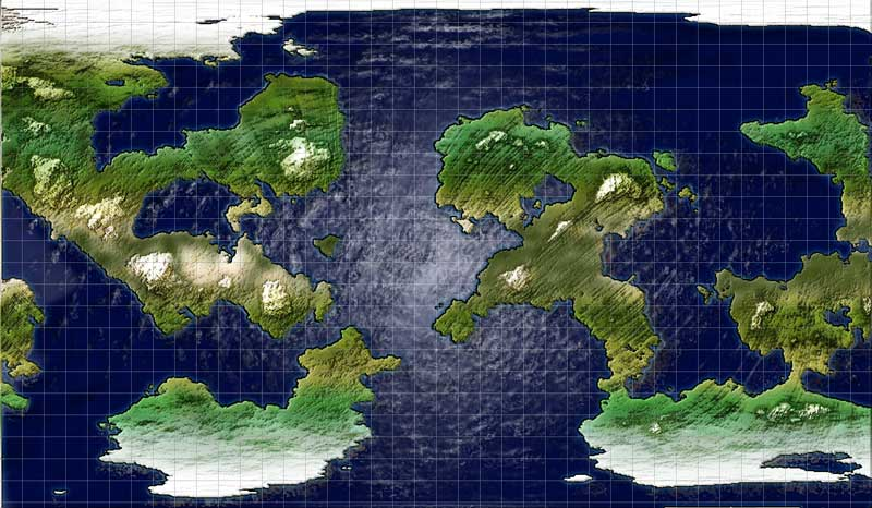Just another play taking a world map from Fractal Terrains and working through Ascension's Atlas style tutorial on it.  The water came out quite funky on this one :)