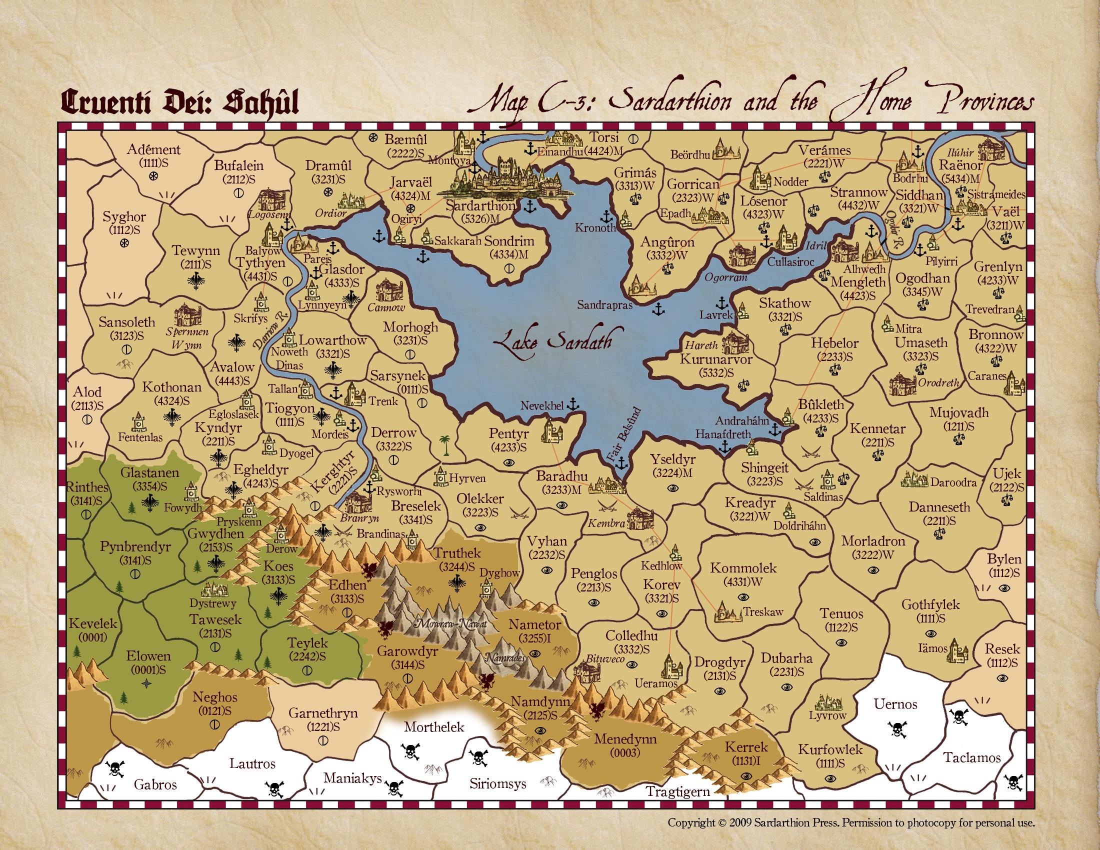 Cruenti Dei: Sah�l, map C-2