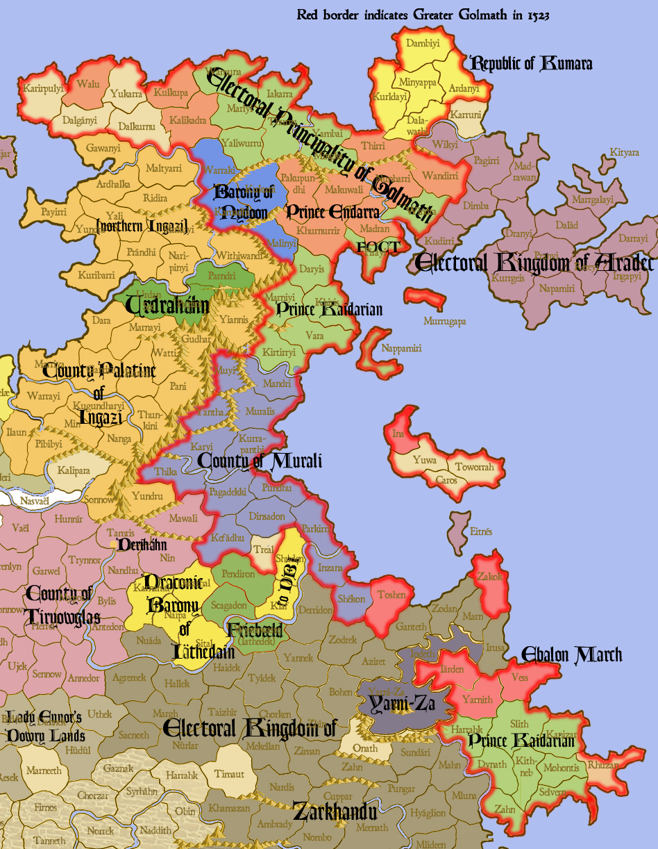 Breakup of the Principality of Golmath, 1525