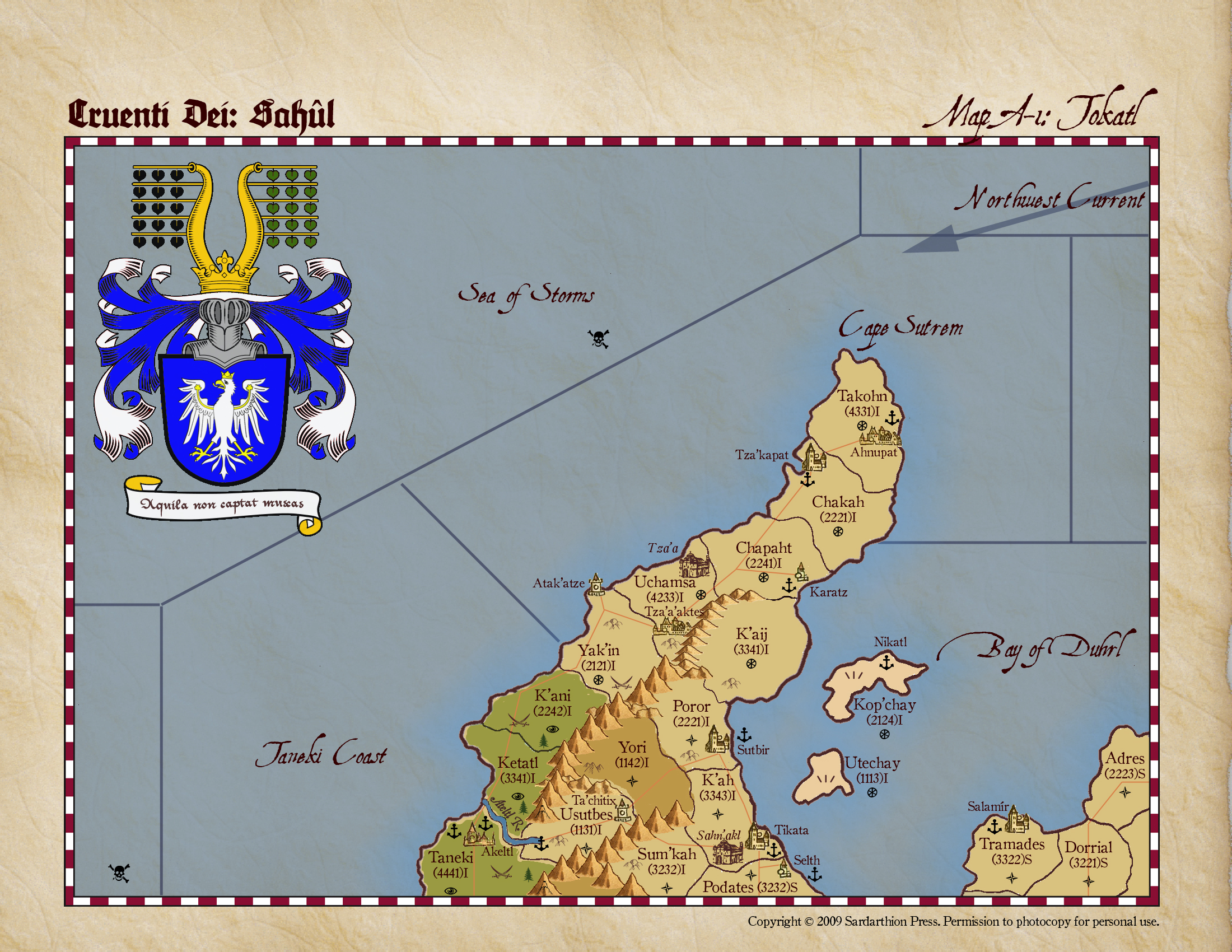 Cruenti Dei: Sah�l, map A-1