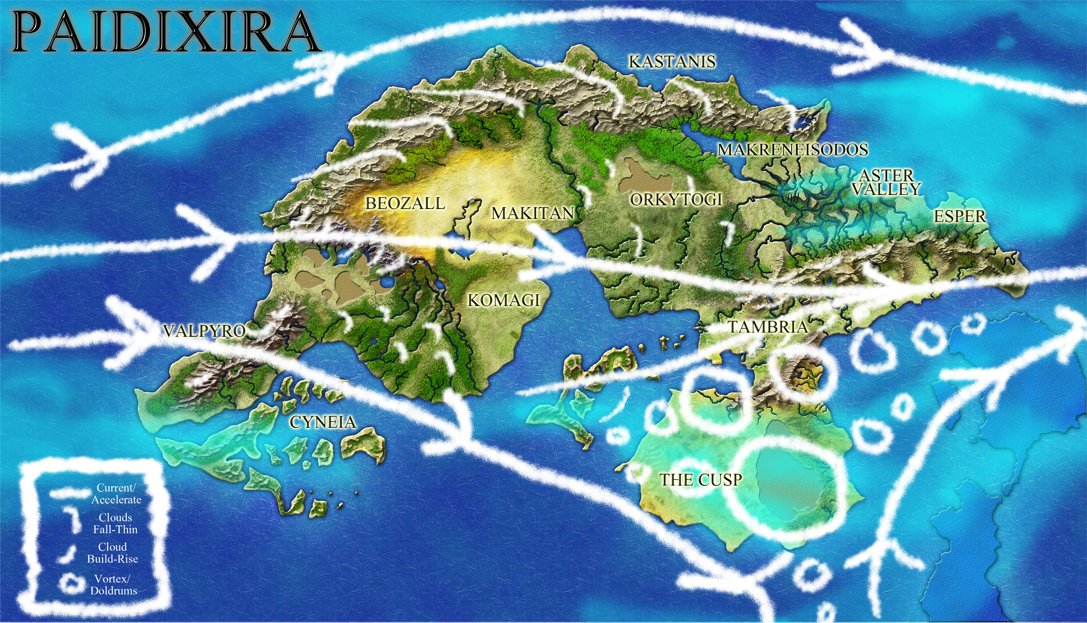 Tu' Atriah with possible cloud placements and air currents.