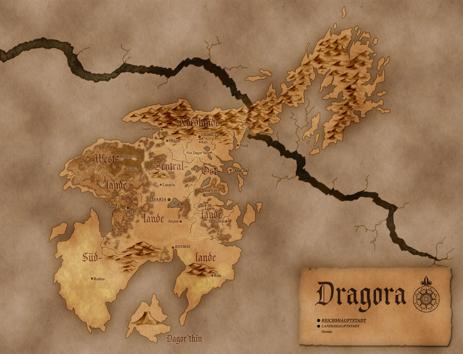 Map of Nolkor: Dragora