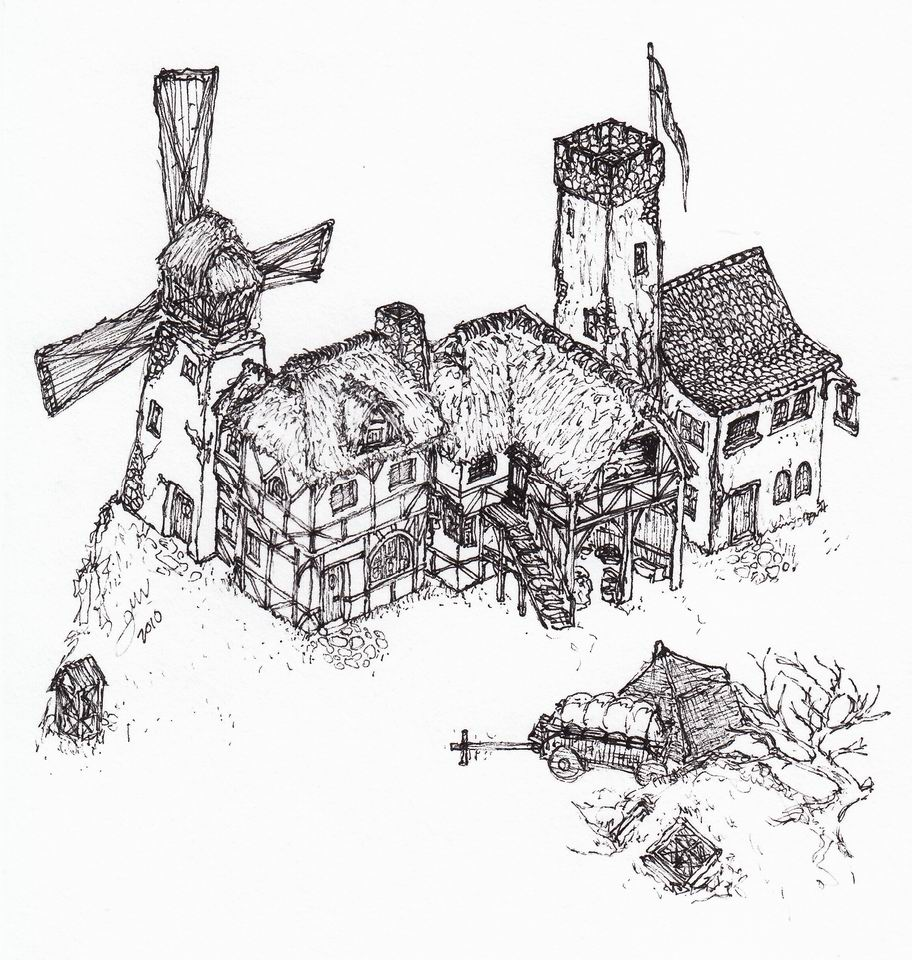 Countryside buildings (isometric)