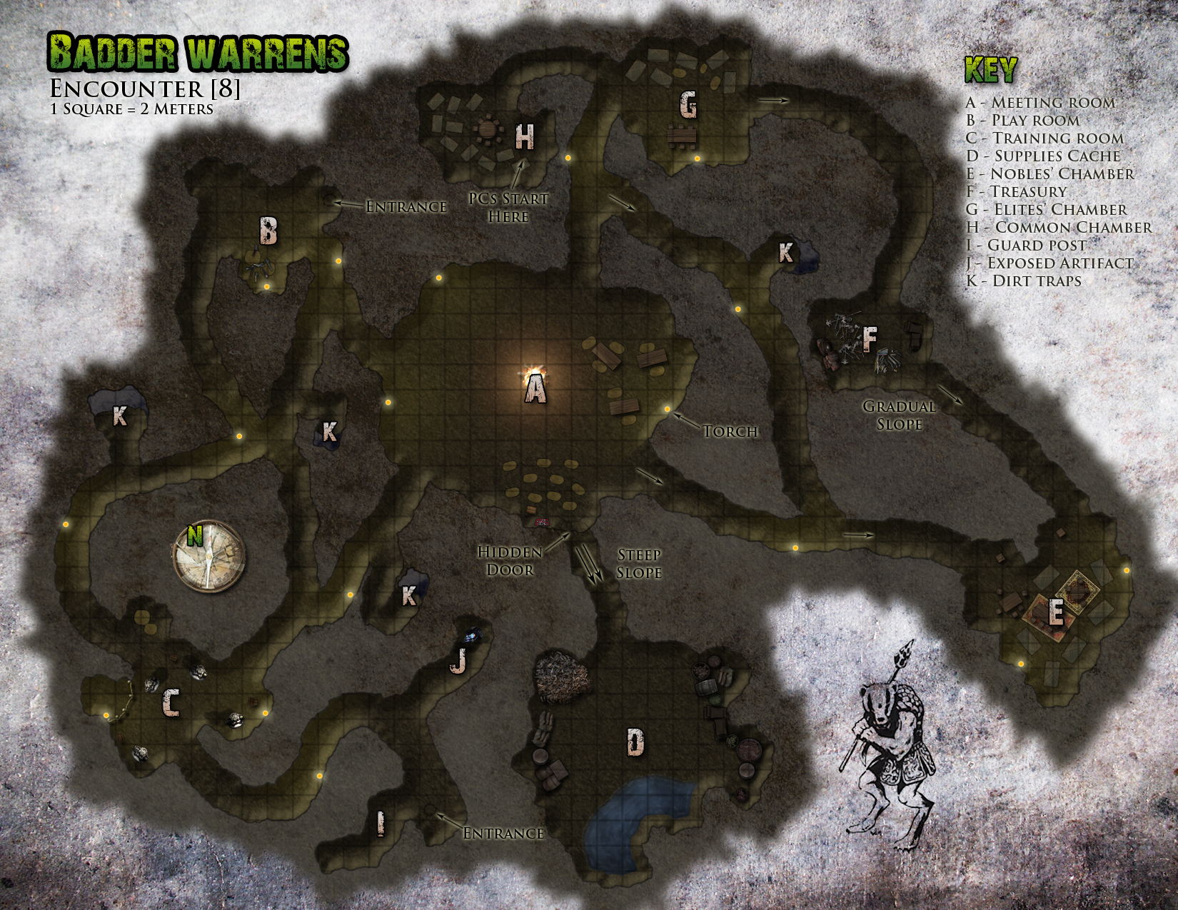 Famine in Far-Go badder warren map. A remake of a map for the old TSR Gamma World module.