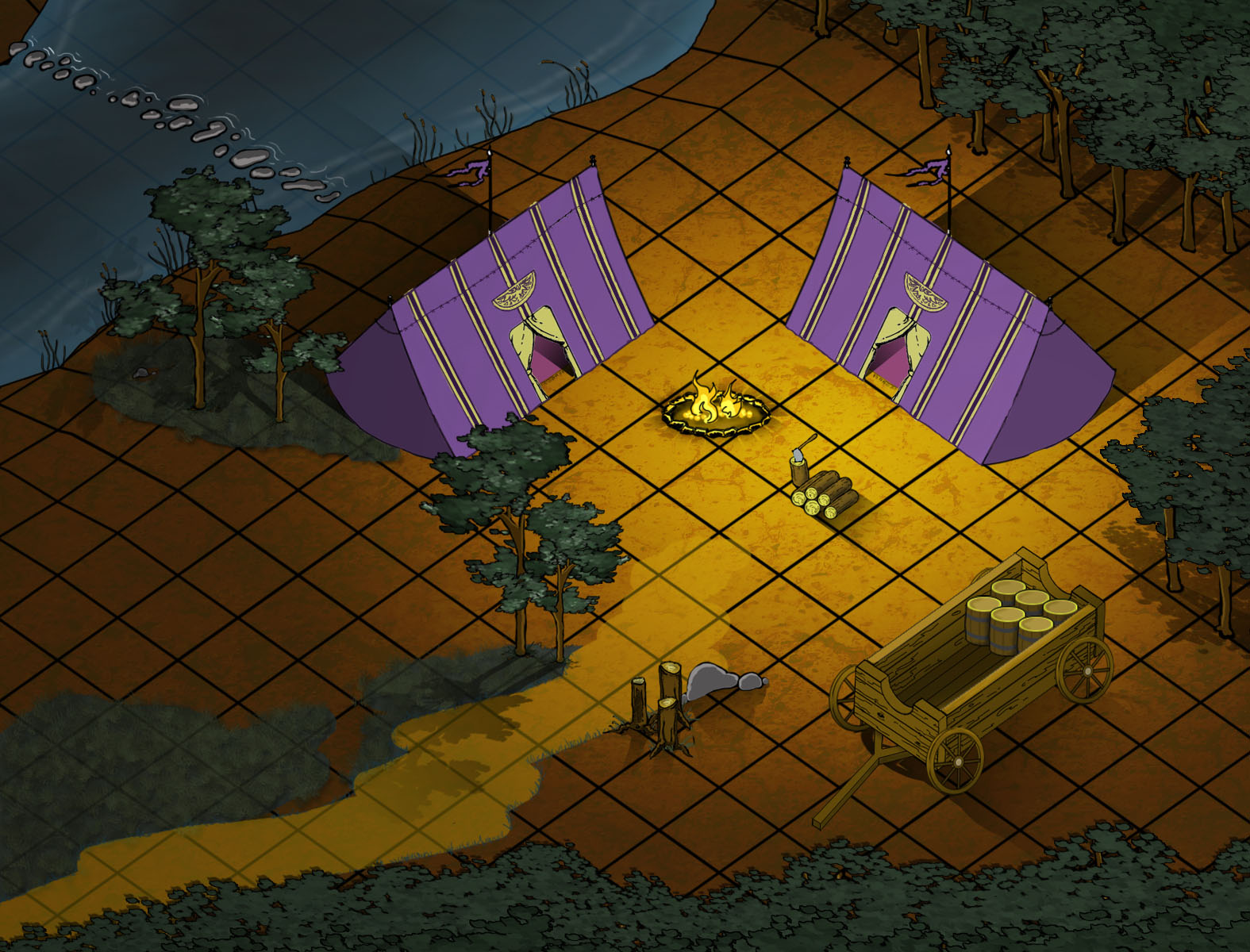 January Lit Mapping Challenge - Isometric Campsite