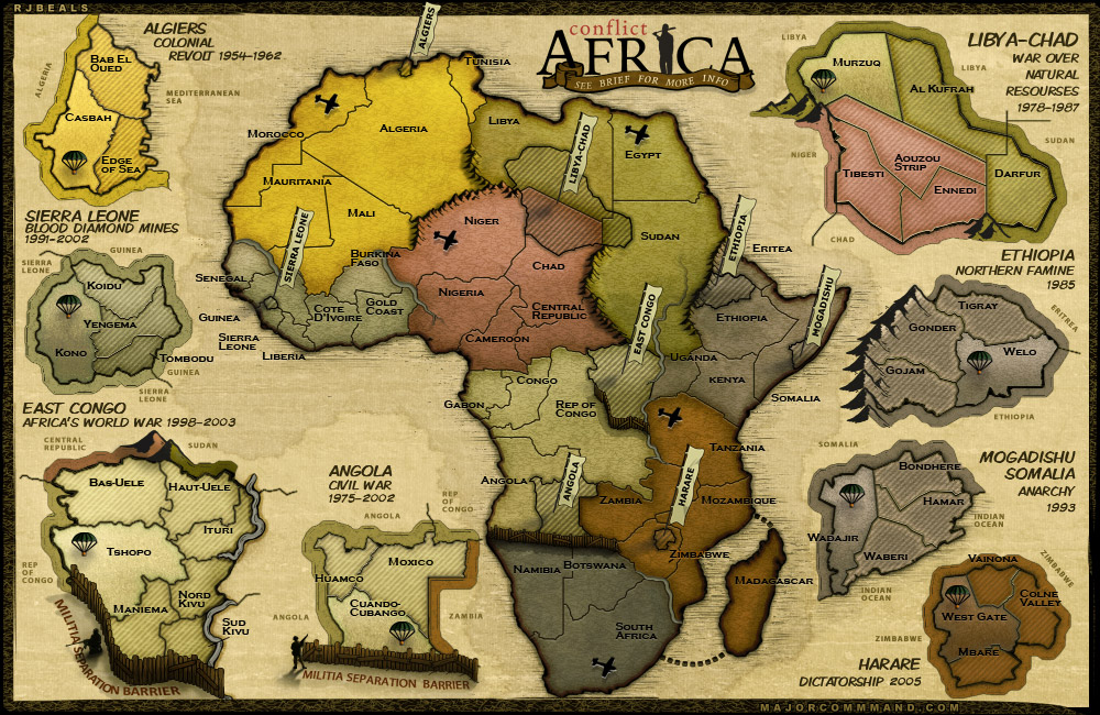 Conflict: Africa, new map for Risk style gaming site MajorCommand