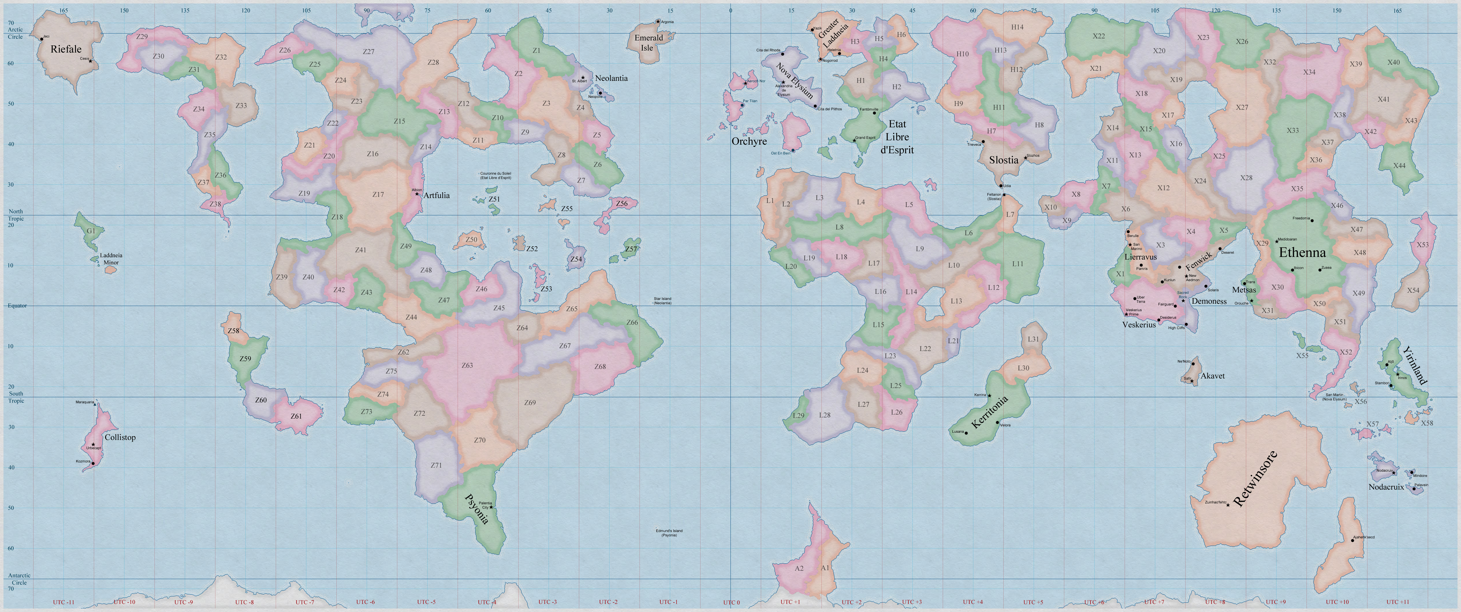 Alterra Political World Map