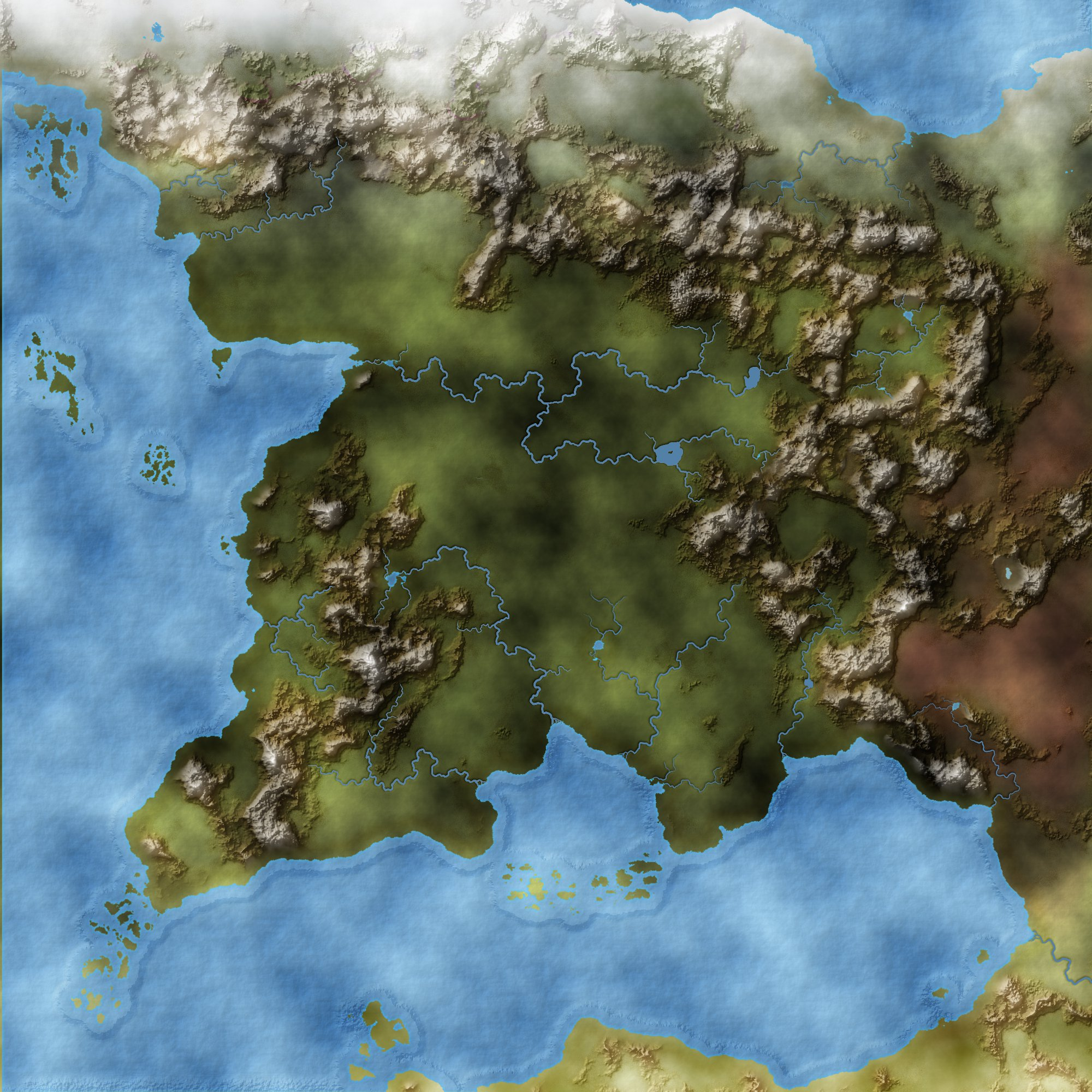 westerlands with coast and rivers