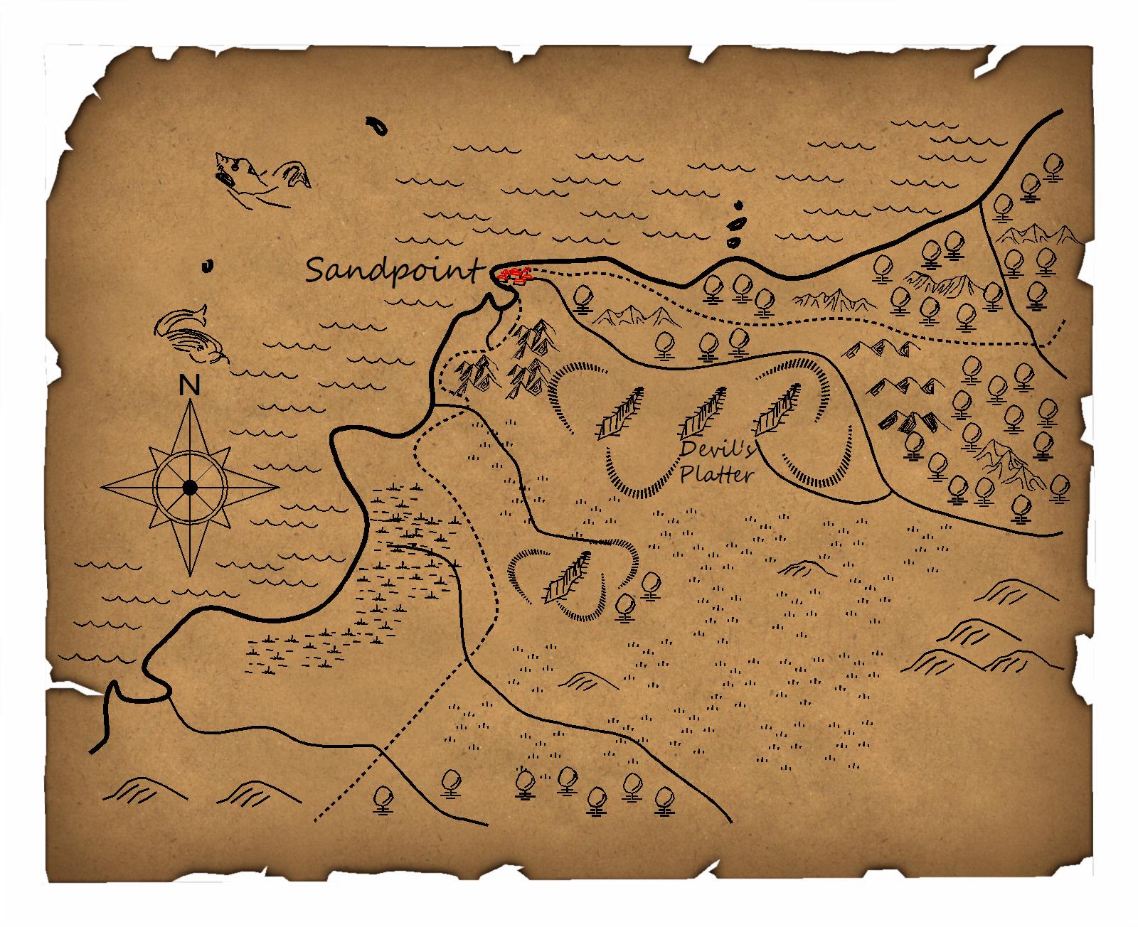 Sandpoint Hinterland   Hand drawn